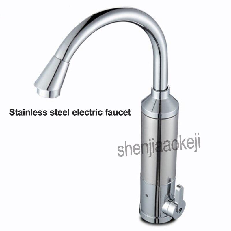 SJB-30G1 robinet d'eau chaude instantanée électrique rapide robinet chauffage sans réservoir type de chauffage 3000 w cuisine froide double usage en acier inoxydable