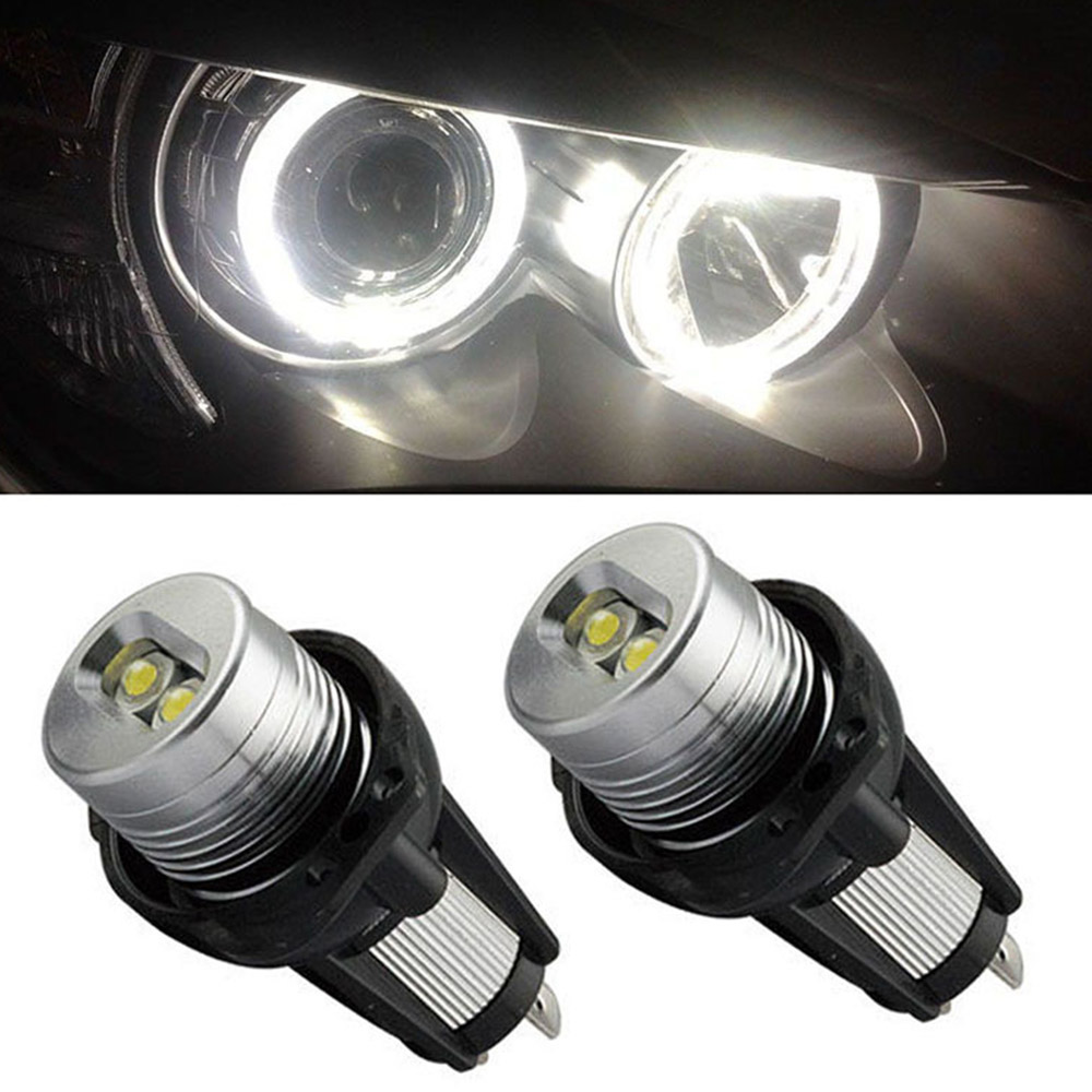 2 LED 12V chip angel eye LED logo light bulb for replacement for BMW E90 / E91