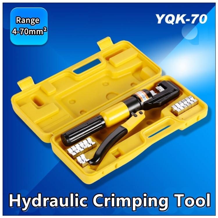 MXITA Hydraulic Crimping Tool Hydraulic Plier Hydraulic Compression Tool Set YQK 70 Range 4 70MM2 Pressure 6T