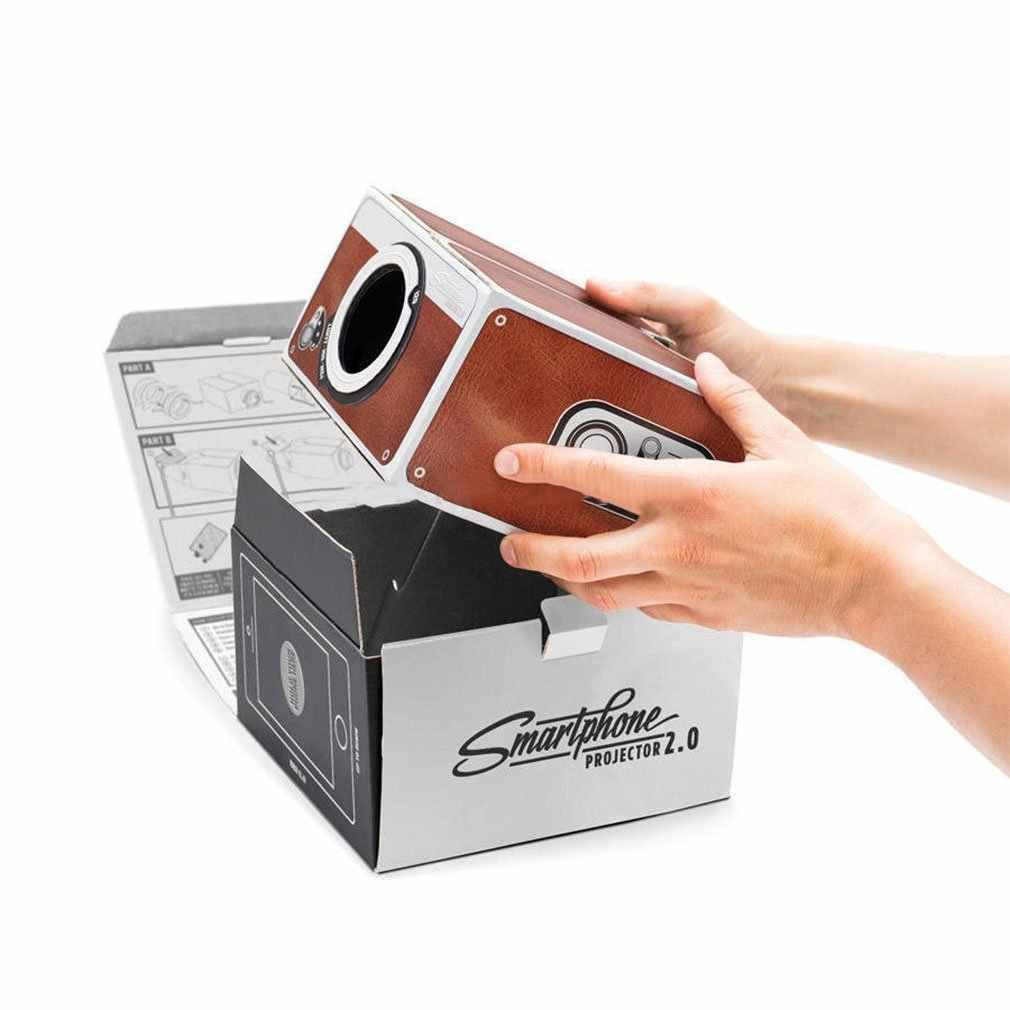 2 세대 소형 DIY 스마트 폰 디지털 홈 시어터 엔터테인먼트 프로젝터 쉬운 설치