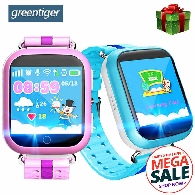 Greentiger Q750 Q100 GPS Smart Watch SOS Call Location Device Tracker Smart Baby Watch 1.54inch Touch Screen for Safe PK Q50 Q90