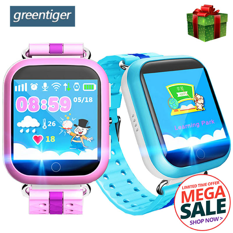 Greentiger Q750 Q100 GPS Smart Watch SOS Call Location Device Tracker Smart Baby Watch 1.54inch Touch Screen for Safe PK Q50 Q90 original q50 battery q90 battery or screen protect for q50 q100 q90 baby smart watch q50 q90 q100 children gps watch battery