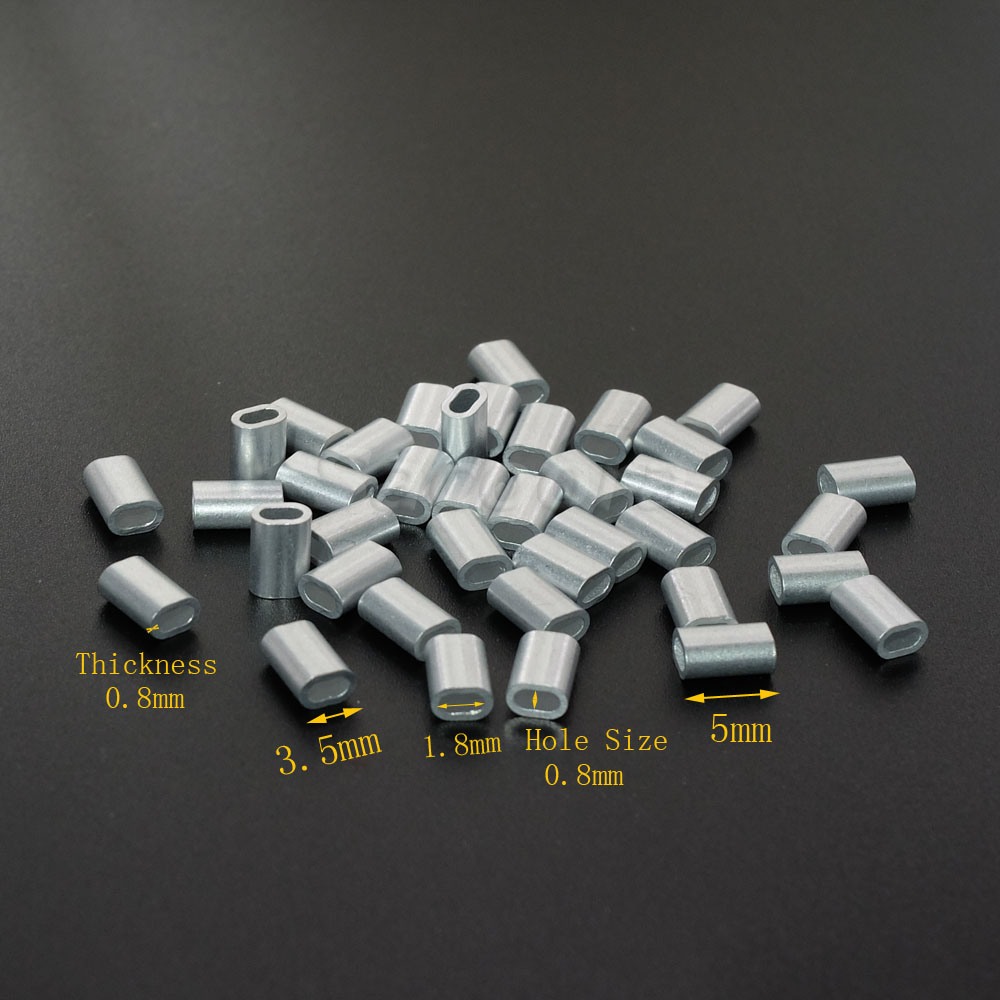 Pcs pack quot mm aluminum cable crimps sleeves