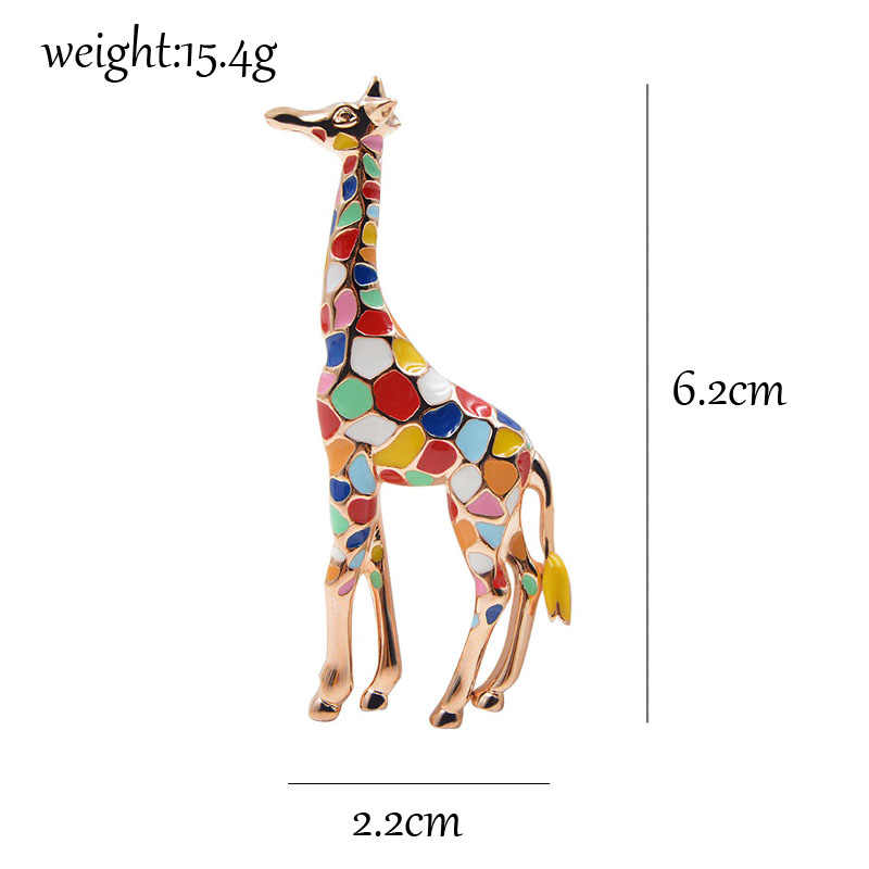CINDY XIANG Smalto Giraffe Spille per Le Donne Spilla Simpatico Animale Spille Gioelleria Raffinata E Alla Moda Oro Regalo di Colore Per I Bambini Squisita Spilla