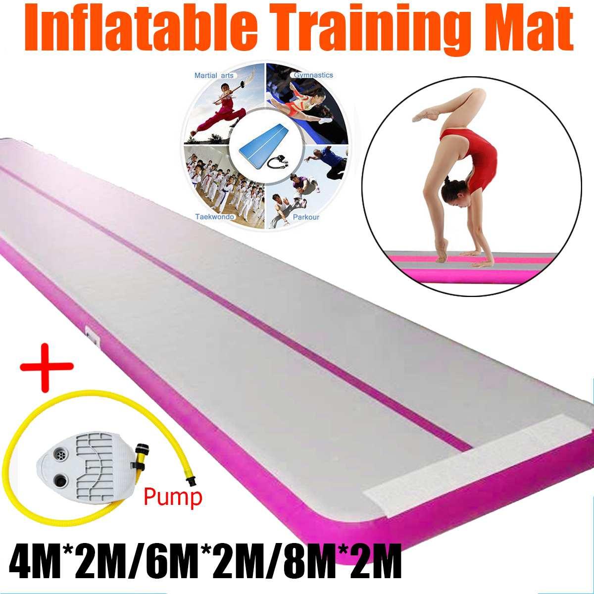 2x4/6/8 m Air piste gymnastique culbute sol de gymnastique gonflable tapis de gymnastique Air Gym sol pour Gym entraînement tapis Air piste