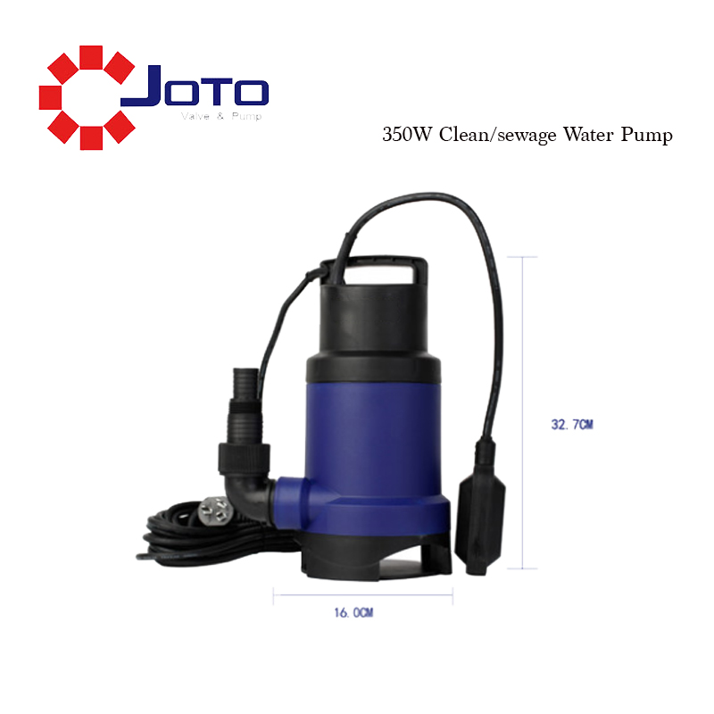 350W Small Electrical Clean Water Sewage Water Pump Submersible Pump For Draining Water Agricultural Irrigation Water