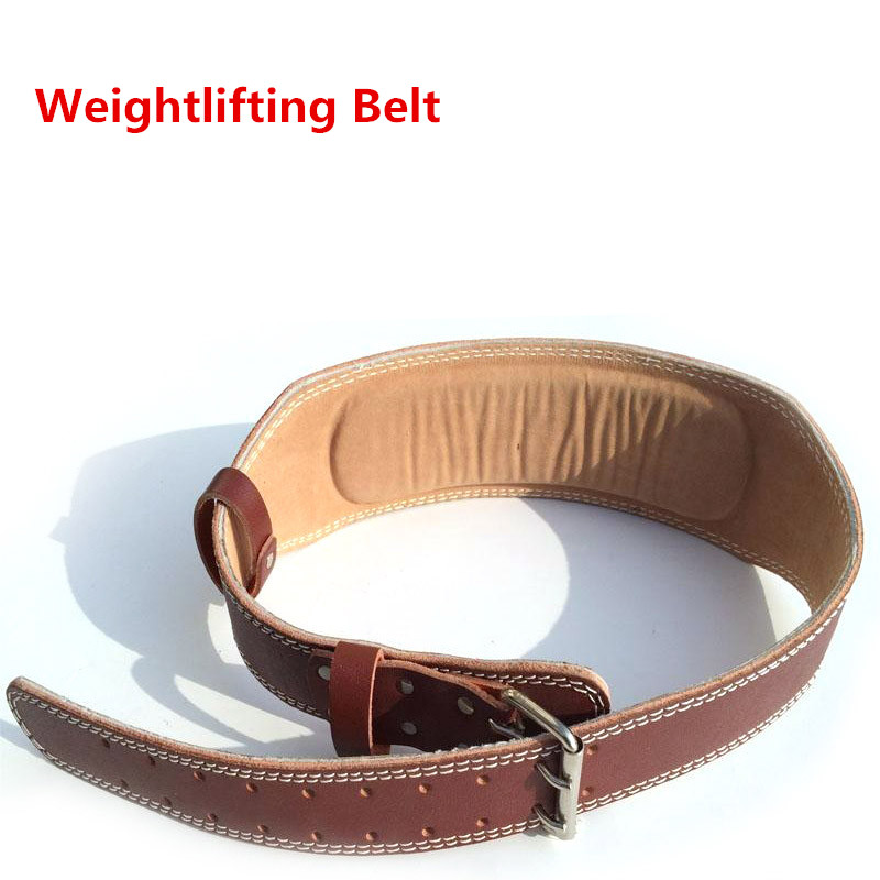 Weight Lifting Weightlifting Belt Cowhide Leather Men Lumbar Protection Gym Fitness Training Squats Powerlifting Back Weight Lifting Belts