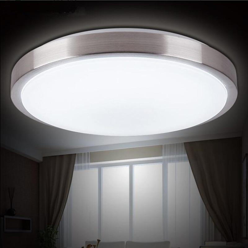 US $8.91 10% OFF|Decke lichter LED lampe Durchmesser 21/26cm Acryli panel  Aluminium rahmen rand innen beleuchtung Schlafzimmer wohnzimmer küche LED  ...