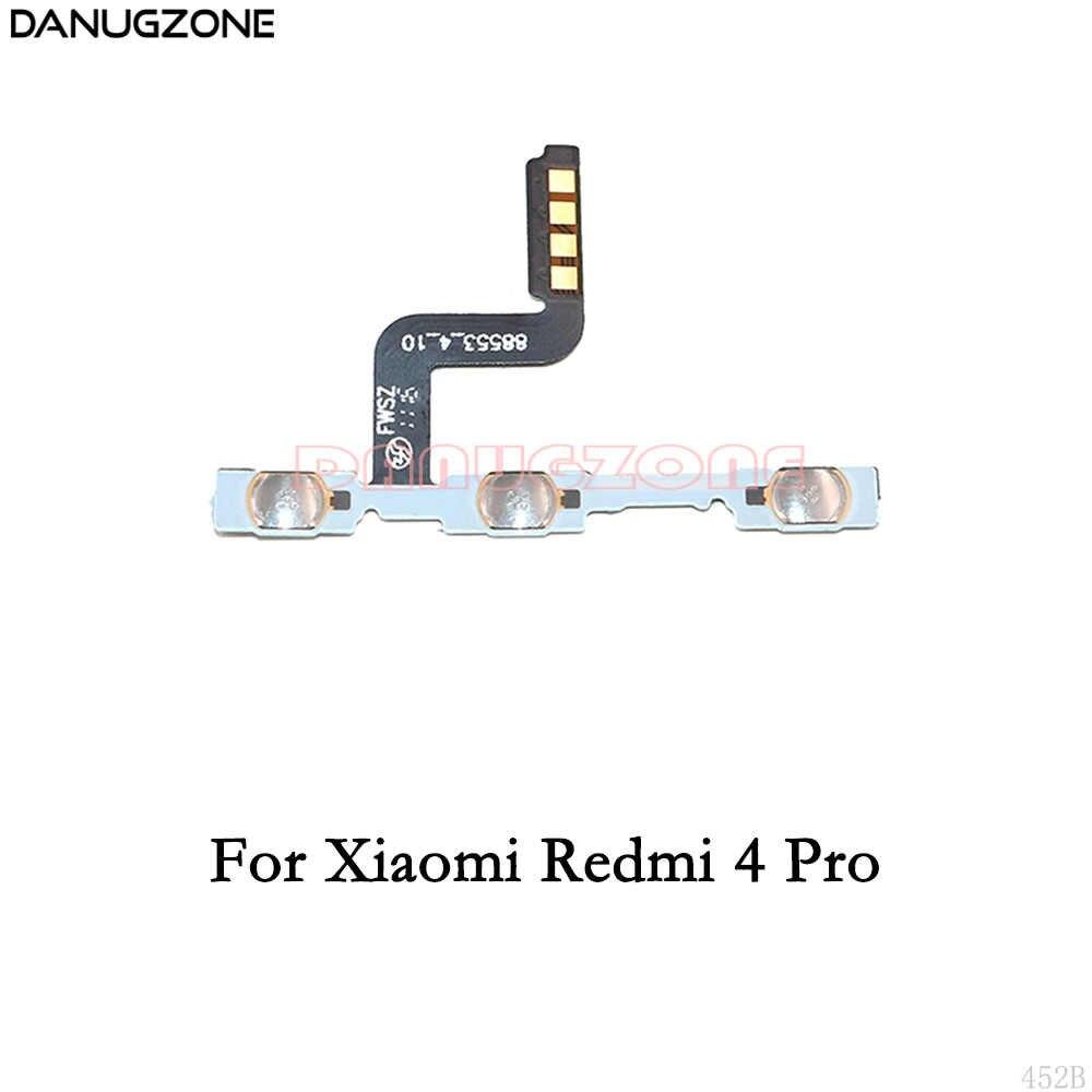 Tombol Power On/Off Volume Bisu Switch Tombol FLEX Kabel untuk Xiaomi Redmi 4 Pro 4A 4X3 3S