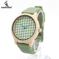 BOBOBIRD New Fashion 100 Natural Bamboo Wood Watches Women Luxury Vintage Round Genuine Leather Band Watch