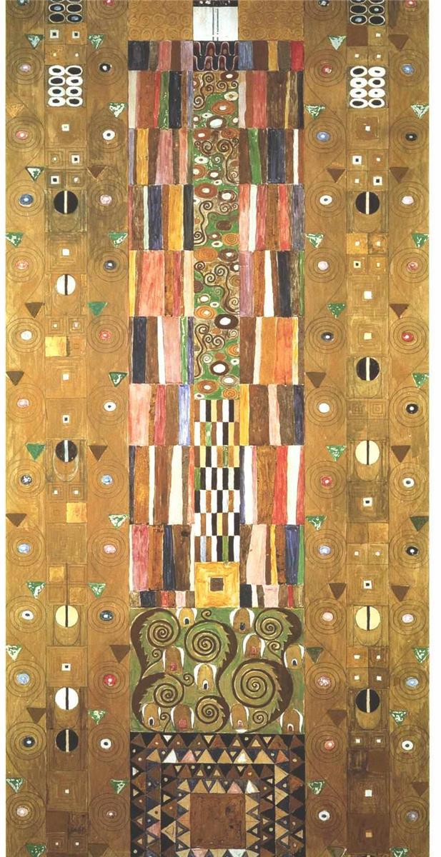 Handmade oil painting reproduction Design for the Stocletfries by Gustav KlimtHandmade oil painting reproduction Design for the Stocletfries by Gustav Klimt