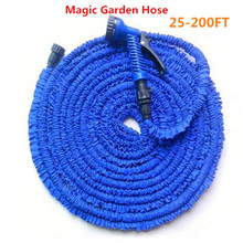 HOT SALE Expandable Magic Flexible Garden Hose To Watering With Spray Gun Garden Car Water Pipe Hoses Watering 25-200FT