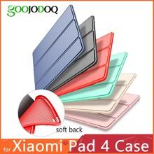 Для Xiaomi mi Pad 4 чехол, GOOJODOQ mi Pad4 чехол из искусственной кожи Силиконовый Мягкий противоударный Тонкий чехол для Xiaomi mi pad 4 чехол Funda
