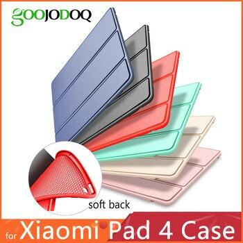 Dla Xiaomi Mi Pad 4 przypadku, GOOJODOQ Mi Pad4 przypadku PU skóra silikonowa miękka odporna na wstrząsy cienka szczupła pokrywa dla Xiaomi Mipad 4 przypadku Funda