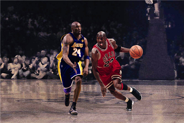Custom canvas art jordan kobe poster kobe bryant sticker for Basketball mural wallpaper