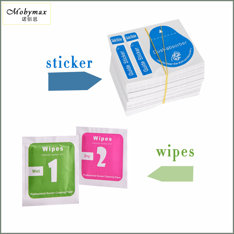 300pcs/ lot Camera Lens LCD Tempered Screens Protector Dust Removal Wet Dry Cleaning Cloth Wipes and Papers sticker for iPhone