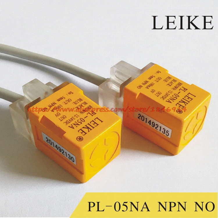 Free shipping    PL-05NA square induction DC 24V three line NPN normally open close to switch metal sensorFree shipping    PL-05NA square induction DC 24V three line NPN normally open close to switch metal sensor