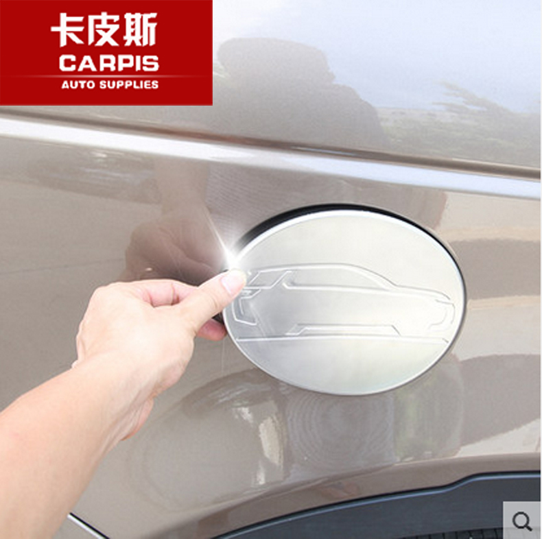 Chrome Car Oil Fuel Tank Cap Cover Sticker Land Rover Discovery Sport 2015 2016 2017 Accessories Styling - Carpis Auto Supplies store