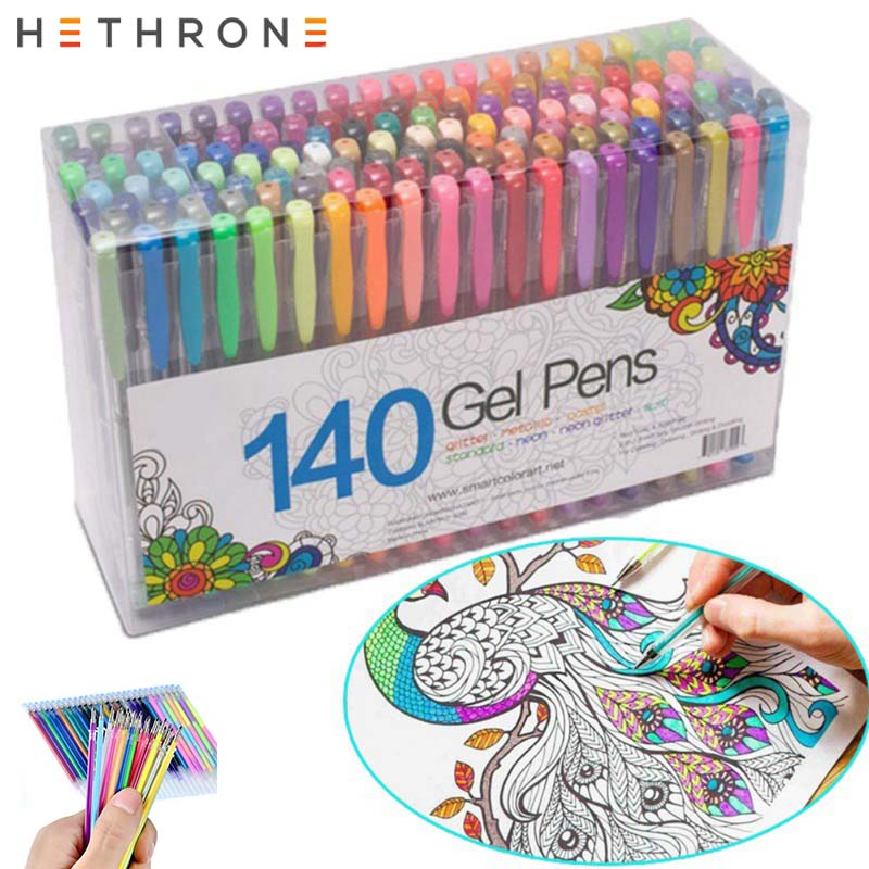 Hethrone 12/24/36/48pcs Colorful Drawing Highlighters Gel Pen Refill Art DIY Watercolor Pen Refill For Office Painting Caneta