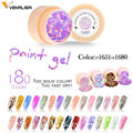#50638 CANNI 2019 New Arrival Painting Gel Starry Colors Nail Gel Professional Supply UV LED Soak Off Paint Gel Polish Color Gel