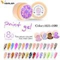 #50638 CANNI 2019 nueva llegada pintura Gel estrellado colores de uñas de Gel de suministro profesional de UV LED de pintura Gel color de esmalte de Gel