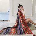Зимний шарф женщин новый Сон Анти кашемир печати Чешского Непал зима Держать теплый шарф шали шарфов хиджаб верховая из индии