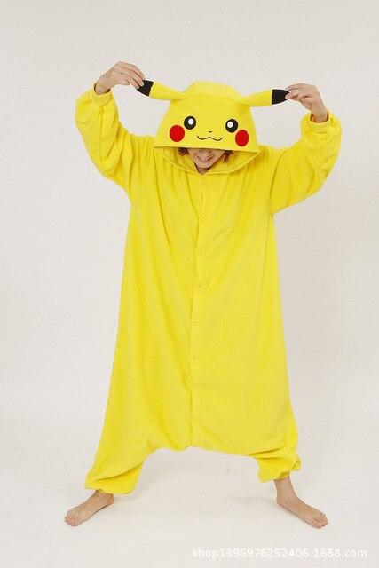 Adultos Franela Cosplay Pikachu Disfraces Unisex Para Crear Danza Fancy  Halloween Party Pijama 3fcf37a295ca