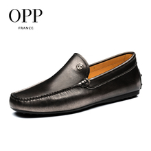 OPP Loafers For Men 2017 Genuine Leather moccasins Summer Mens Shoes Zapatos hombres Flats Casual Comfortable Driving Shoes