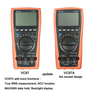 Image 3 - VC97A New VC97 Digital Multimeter Auto Range 1000V DMM Temperature Detector DC AC Voltage Current Meter Capacitance
