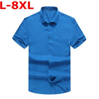 new Plus size 9XL 8XL 7XL 5XL 4X New fashion shirt men brand clothing printed shirt male top quality stretch short summer shirt