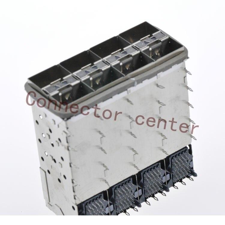 SFP SFP + Connector Voor Molex geplakt 2 by 4 Multi Port Connector met 2 Innerlijke Lightpipe Poorten 160 Circuits 760465002 - 5