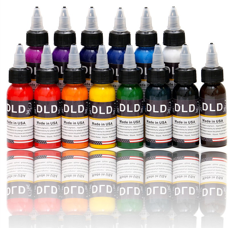 14 color 30ml bottle tattoo ink pigmento microblading permanent makeup art pigment cosmetic tattoo paint for