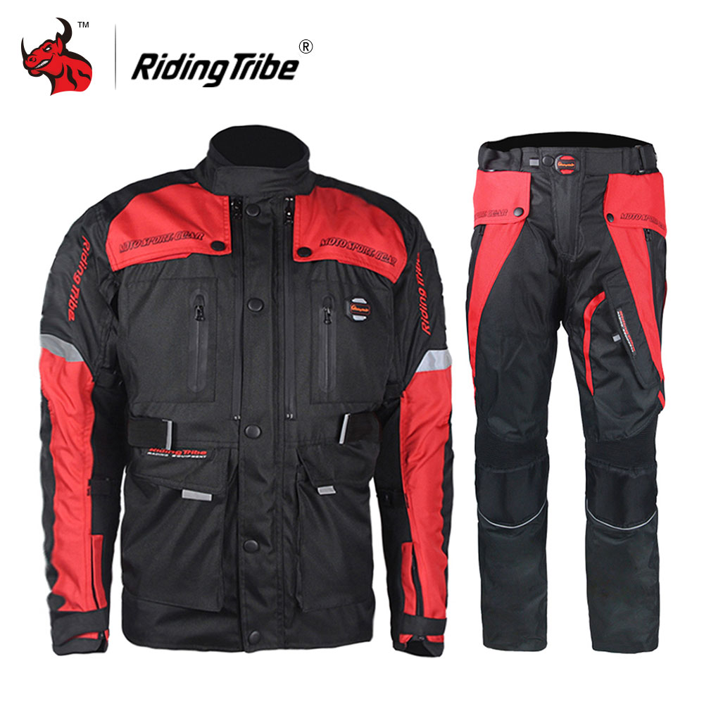 Riding Tribe Men Motocross Off-Road Racing Clothing Set Windproof Waterproof Motorcycle Touring Travel Riding Jacket Pants Suit