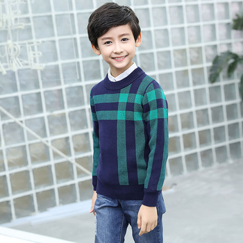 Winter Cotton products clothing Boy's Sweater O-Neck pullover Sweater  Kids clothes children's Sweater winter Keep warm 1