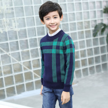 Winter Cotton products clothing Boys Sweater O Neck pullover Sweater  Kids clothes childrens Sweater winter Keep warm