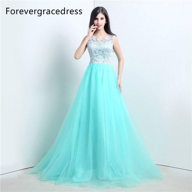 Forevergracedress Echt Fotos Minze Farbe Abendkleid Herrliches Eine ...