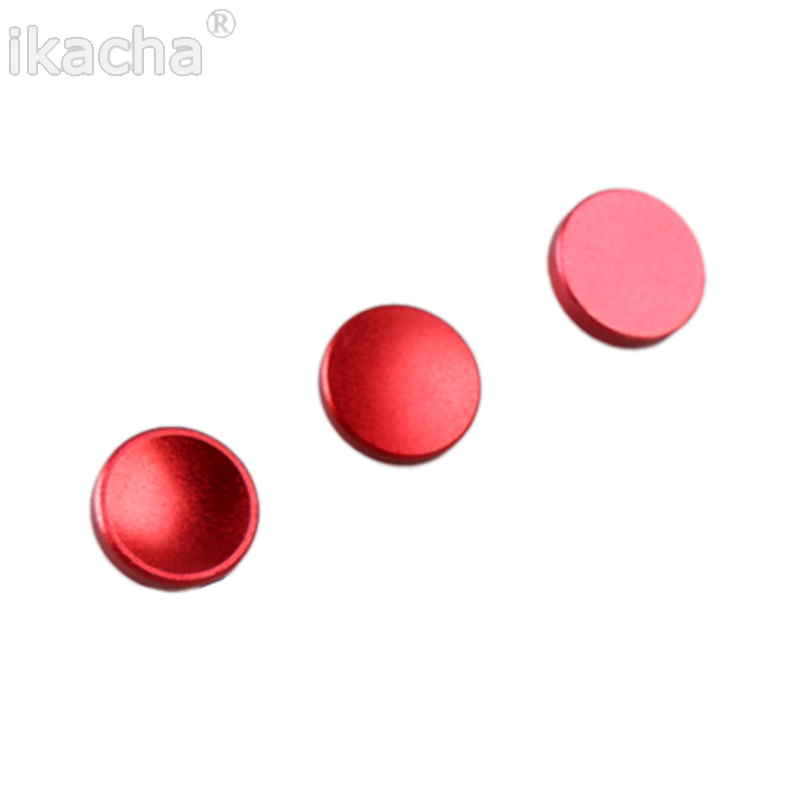 3 pcs Red Small Soft Shutter Release Button for Leica M3 MP M8 M9 for Fuji X100 For CANON For Nikon