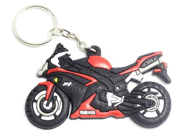 keychain for yamaha r1 super sport bike decals badge soft rubber