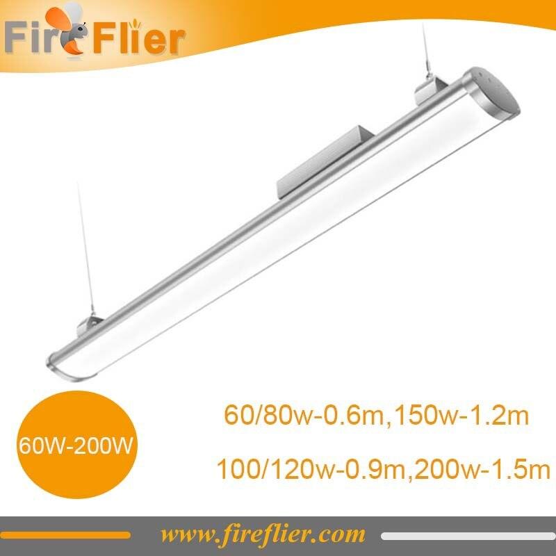 4 pièces 3 pieds 4 pieds 5 pieds Led haute baie lumière linéaire 100 w 120 w 150 w 200 w remplacer 4 tubes T8 lumière fluorescente étanche