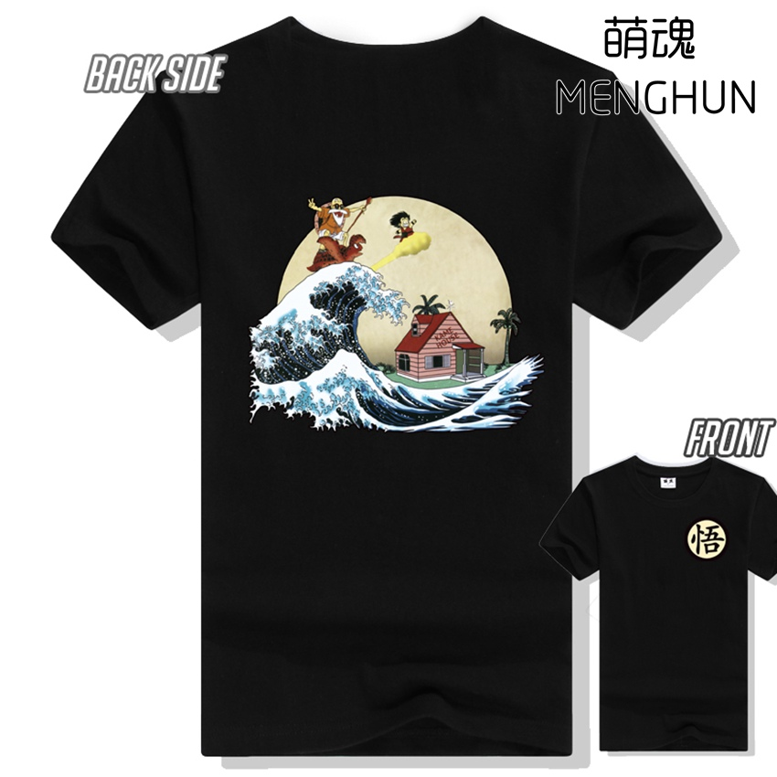 New dragon ball concept men's short sleeve t shirt various pure color cotton t shirt Dragon ball Master Roshi t shirt ac667