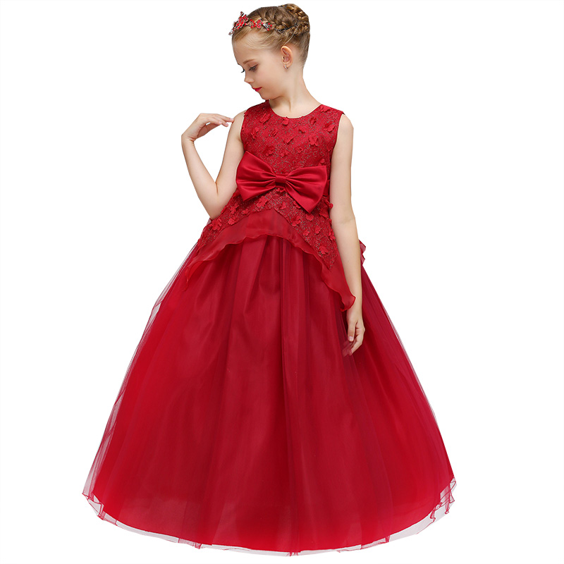 Pageant Dresses For Girls Flower Girl Dresses Birthday Party First Communion Princess Baby Tutu Costume Children Clothing LP-70