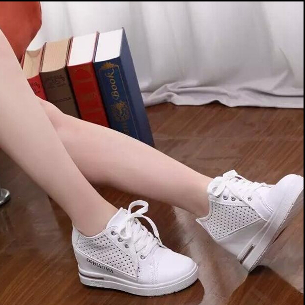 b7c6da250396 White Fashion women wedge shoes High Top Casual Womens Floral Shoes women  Shoes For Women-in Women s Vulcanize Shoes from Shoes on Aliexpress.com