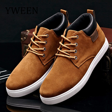 YWEEN Men's Casual Shoes Cotton Spring Autumn Lace-up Shoes Men High Style Youth Ankle Shoes Top Fashion