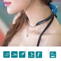 Waterproof 8GB Sport MP3 Music Player Neckband Stereo Earphone Sweatproof Audio Headset With FM For Diving