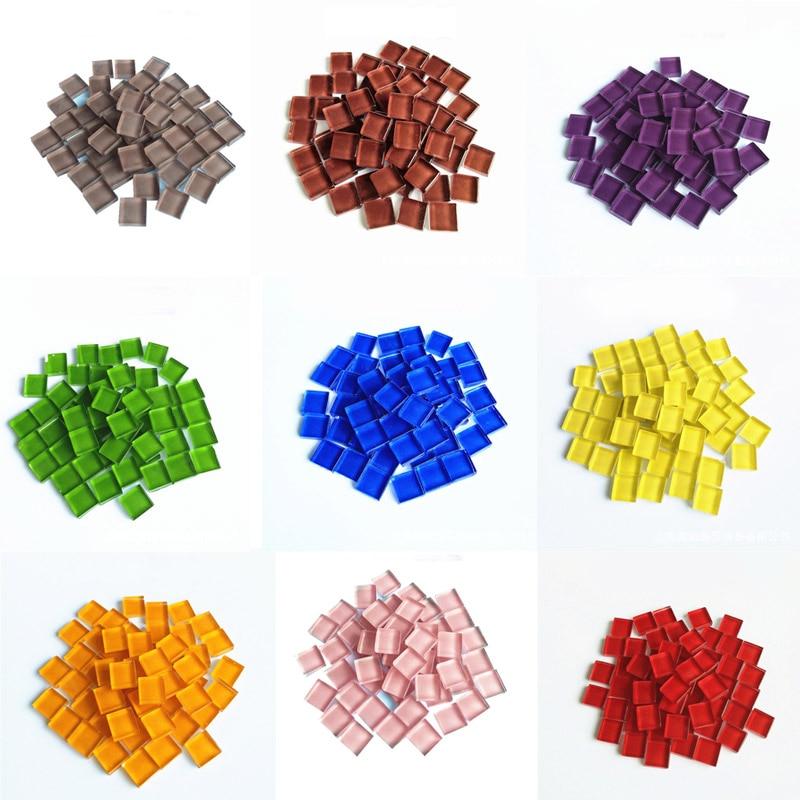 100g/pack Glass mosaic granules Tiny Mini Children Hobbies hand toy tool 10*10*4mm Crystal Stone DIY Craft Handmade Material