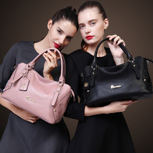 ZOOLER 2017 Crocodile Pattern Black Pink Leather Bags Women crowide Handbags bolsa feminina  genuine shoulder Ladies bags #S-293