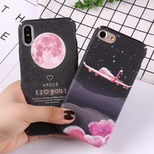 Starry Sky Phone Case For iphone XS XR X Max 8 7 6  Plus Space Moons Mount Luminous 8plus Cover