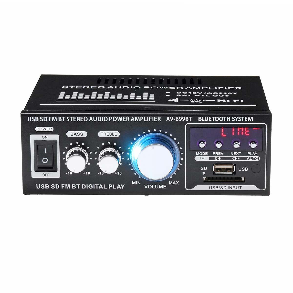адаптации Bluetooth; 12V мини-усилитель; усилить;