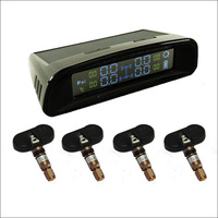 BigBigRoad Solar Power Car TPMS Tire Pressure Monitor System 4 Internal Sensors For kia cerato sorento k3 k2