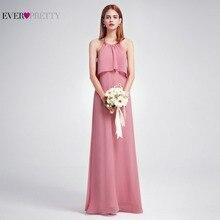 2018 นิวบีชสไตล์ชีฟองชุดเพื่อนเจ้าสาวยาวเคยสวย EP07129DR ยาวชั้นเปลือยงานแต่งงานที่หรูหราบุคคลทั่วไปชุด